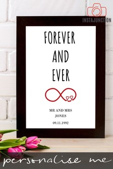 Personalised Forever And Ever Framed Print by Instajunction