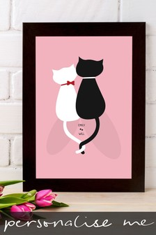 Personalised For Cat Lovers Framed Print by Instajunction