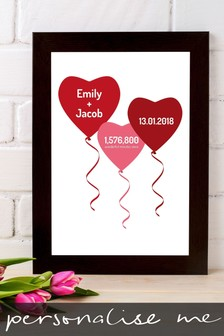 Personalised Special Date And Time Framed Print by Instajunction