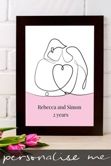 Personalised Line Art Drawing Framed Print by Instajunction