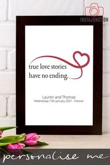 Personalised True Love Stories Framed Print by Instajunction