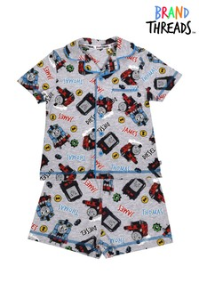 Brand Threads White Thomas & Friends Boys Short Pyjamas