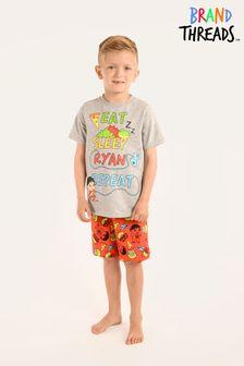 Brand Threads Grey Ryan's World Boys Short Pyjamas