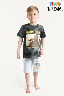 Brand Threads Green Boys Mandalorian Short Pyjamas