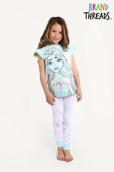 Brand Threads Blue Girls Frozen Pyjamas