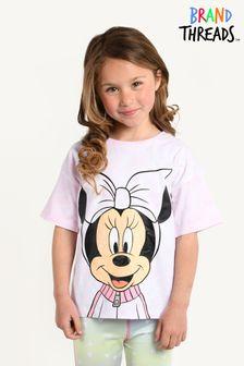 Brand Threads Pink Girls Minnie Mouse T-shirt