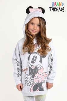 Brand Threads Grey Girls Minnie Mouse Hoody