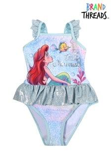 Brand Threads Blue - Ariel Girls Marie Swimsuit