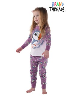Brand Threads Purple Puffin Rock Pyjamas