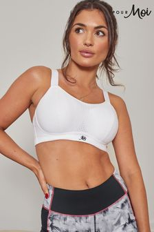 Pour Moi White Energy Underwired Lightly Padded Convertible Sports Bra