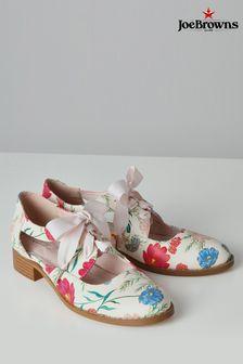 Joe Browns Cream English Meadows Cut Out Shoes