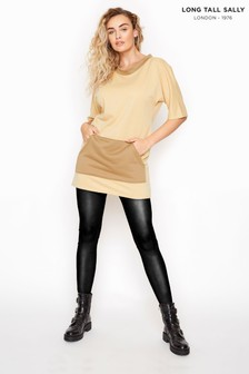 Long Tall Sally Cream Contrast Tunic Sweatshirt
