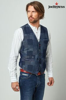 Joe Browns Blue Perfect Patch Waistcoat