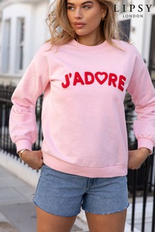Lipsy Pink Jadore Lightweight Sweatshirt