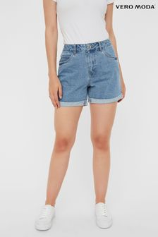 Vero Moda Light Blue High Waist Mom Denim Shorts