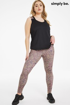 Simply Be Print Active Leggings