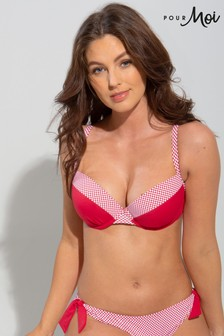 Pour Moi Red Positano Lightly Padded Underwired Top