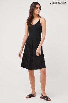 Vero Moda Black Jersey Cami Smock Dress