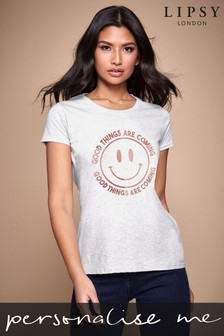 Personalised Lipsy Good Things Are Coming Women's T-Shirt by Instajunction