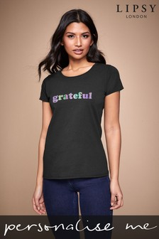 Personalised Lipsy Grateful Women's T-Shirt by Instajunction