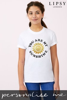 Personalised Lipsy You Are My Sunshine Kid's T-Shirt by Instajunction
