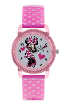 Peers Hardy Pink Minnie Mouse Kids Plastic Strap Minnie Mouse Dial Watch