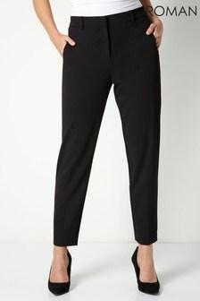 Roman Black Tailored Straight Leg Trouser