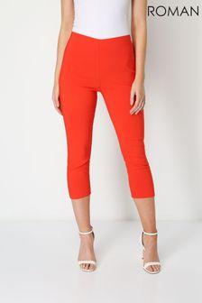 Roman Burnt Orange Cropped Stretch Trouser