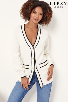 Lipsy Monochrome Button Through Knitted Cardigan