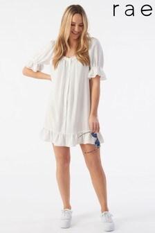 Rae Ivory Mia Puff Sleeve Swing Dress