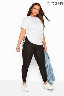 """Yours Black 30"""" Tummy Control Soft Touch Leggings"""