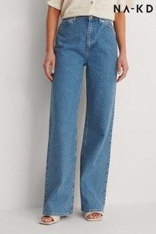 NA-KD Blue Wide Leg Jeans