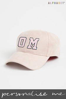 Personalised Adults Monogrammed Faux Suede Cap by Alphabet
