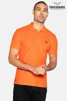 Threadbare Dark Orange Samson Cotton Pique Polo Shirt