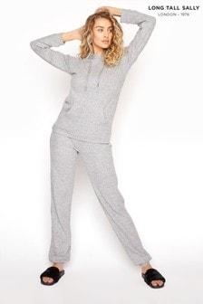 Long Tall Sally Grey Soft Touch Rib Jogger