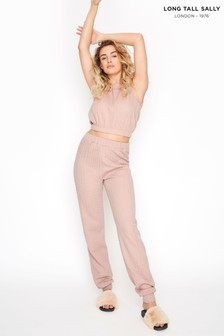 Long Tall Sally Pink Cable Print Co ord Joggers