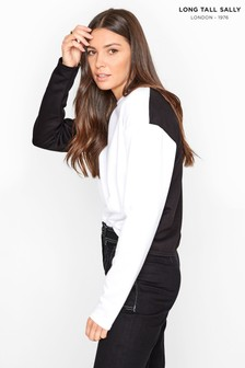 Long Tall Sally White Colour Block Sweatshirt