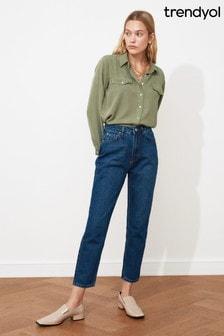 Trendyol Navy Mom Jeans