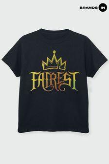 Brands In Black Disney The Descendents Fairest Gold Girls Black T-Shirt