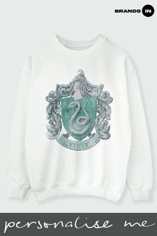 Brands In White Womens Slytherin Crest Sweatshirt by Harry Potter