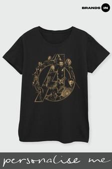 Brands In Black Avengers Infinity War Avengers Logo Women Black T-Shirt