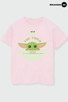 Star Wars Pink Girls The Mandalorian The Child And Frog T-Shirt by Star Wars