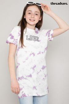 Threadgirls Lilac Saffron Tie Dye Longline T-Shirt