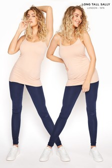Long Tall Sally Blue Two Pack Jersey Leggings