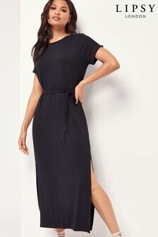 Lipsy Black T Shirt Maxi Dress
