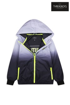 Threadboys Black Bexley Ombre Hooded Pack Away Jacket