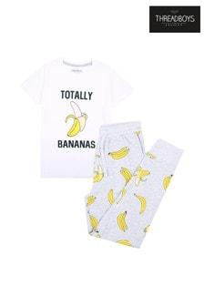 Threadboys Grey Bananas Cotton Pyjamas