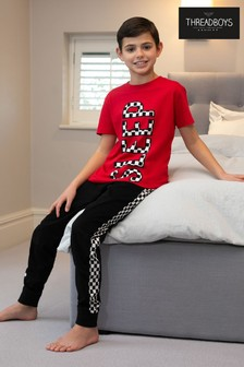 Threadboys Red Checkered Cotton Pyjama Set