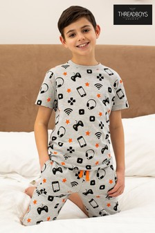 Threadboys Grey Wifi Cotton Pyjama Set