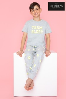 Threadboys Grey Star Team Cotton Pyjama Set